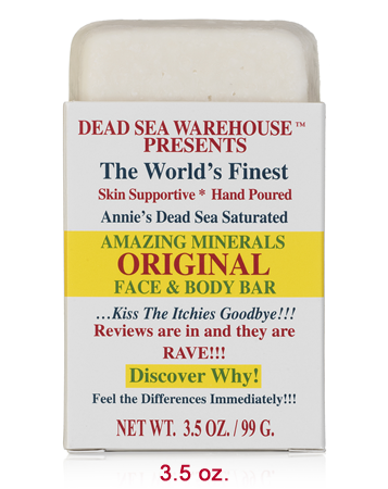 Dead Sea Warehouse Amazing Minerals Original Face & Body Bar